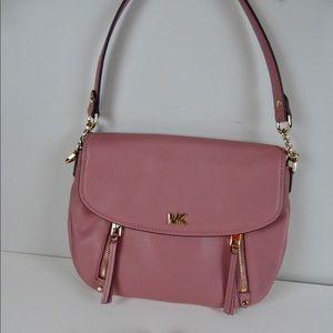 Michael Kors Evie Leather Shoulder Bag Rose Pink